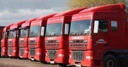 Danco Red DAF Trucks in Bristol
