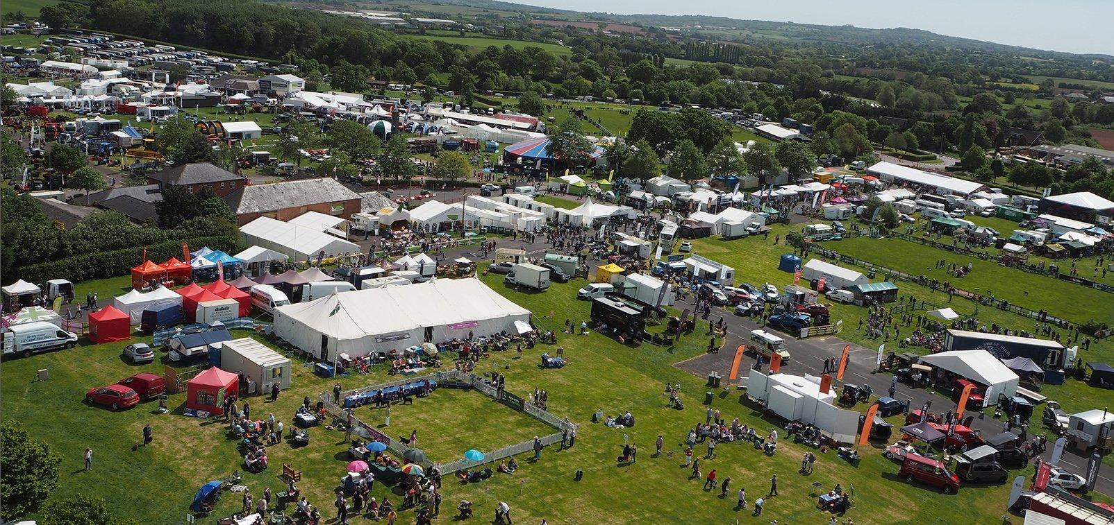 Devon County Show Aerial
