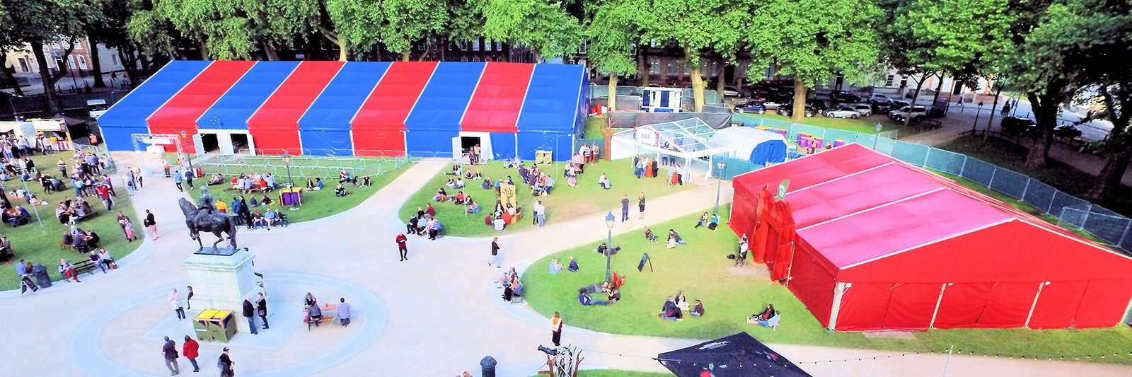 Bristol Comedy Garden Festival Marquee