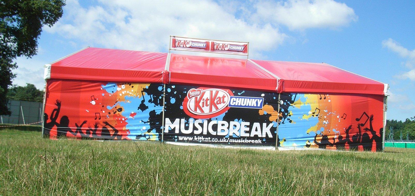 Kit Kat Branded Marquee