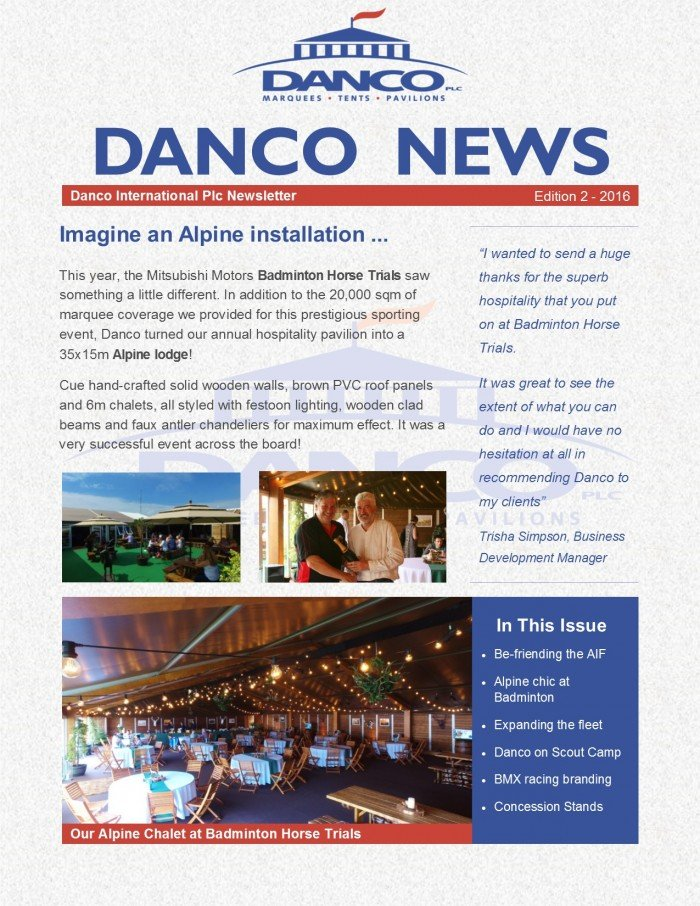 Danco Spring Newsletter_May 2016