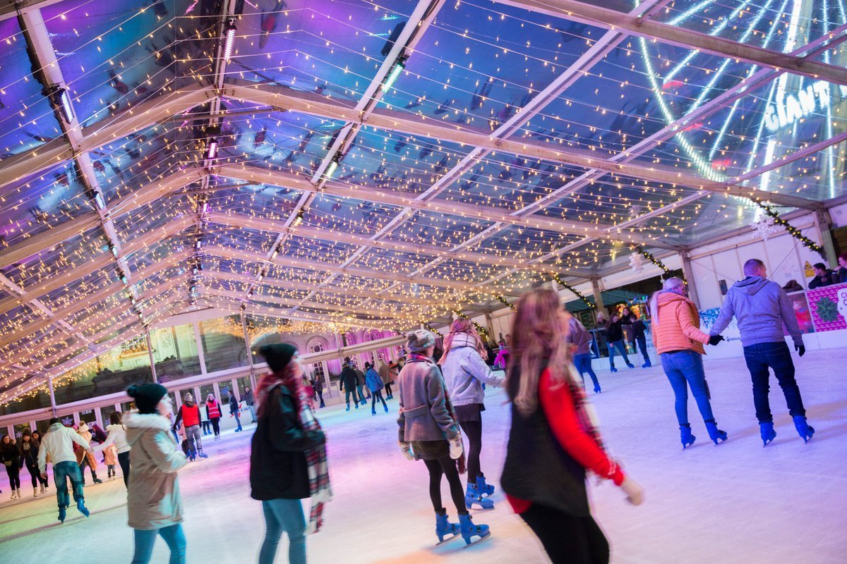 Clear PVC & Fairy Lights at Cardiff Winter Wonderland