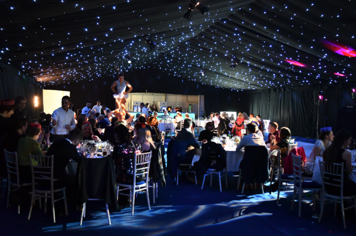 Corporate Christmas Event Clearspan Marquee