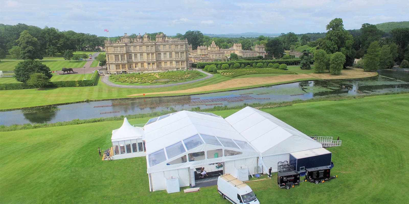 Longleat Wedding Marquee Build