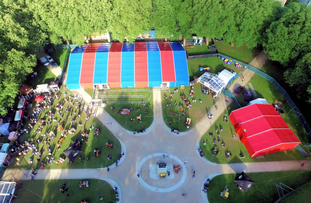 Bristol Comedy Garden Aerial View