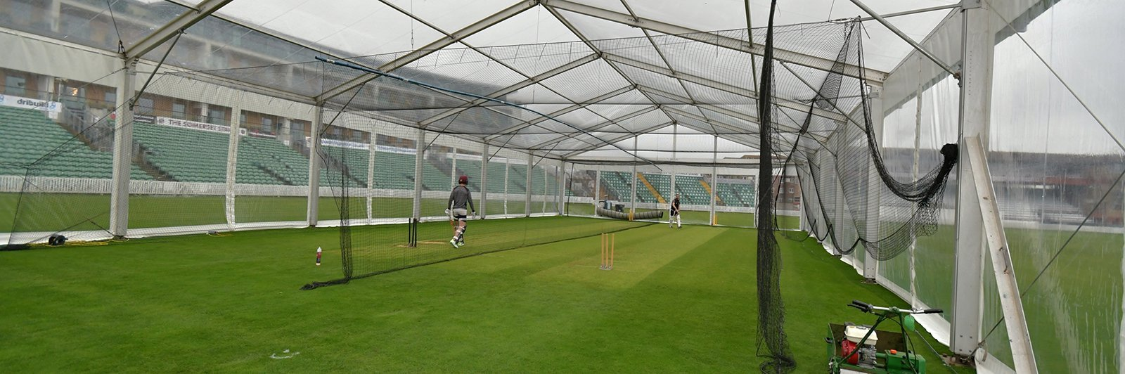 Transparent Marquee for Somerset County Cricket Training