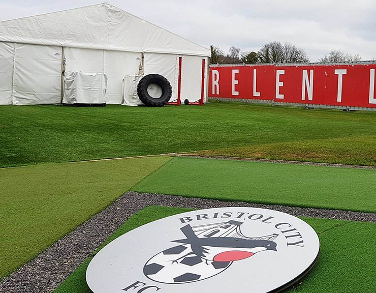 Bristol City FC Training Marquee