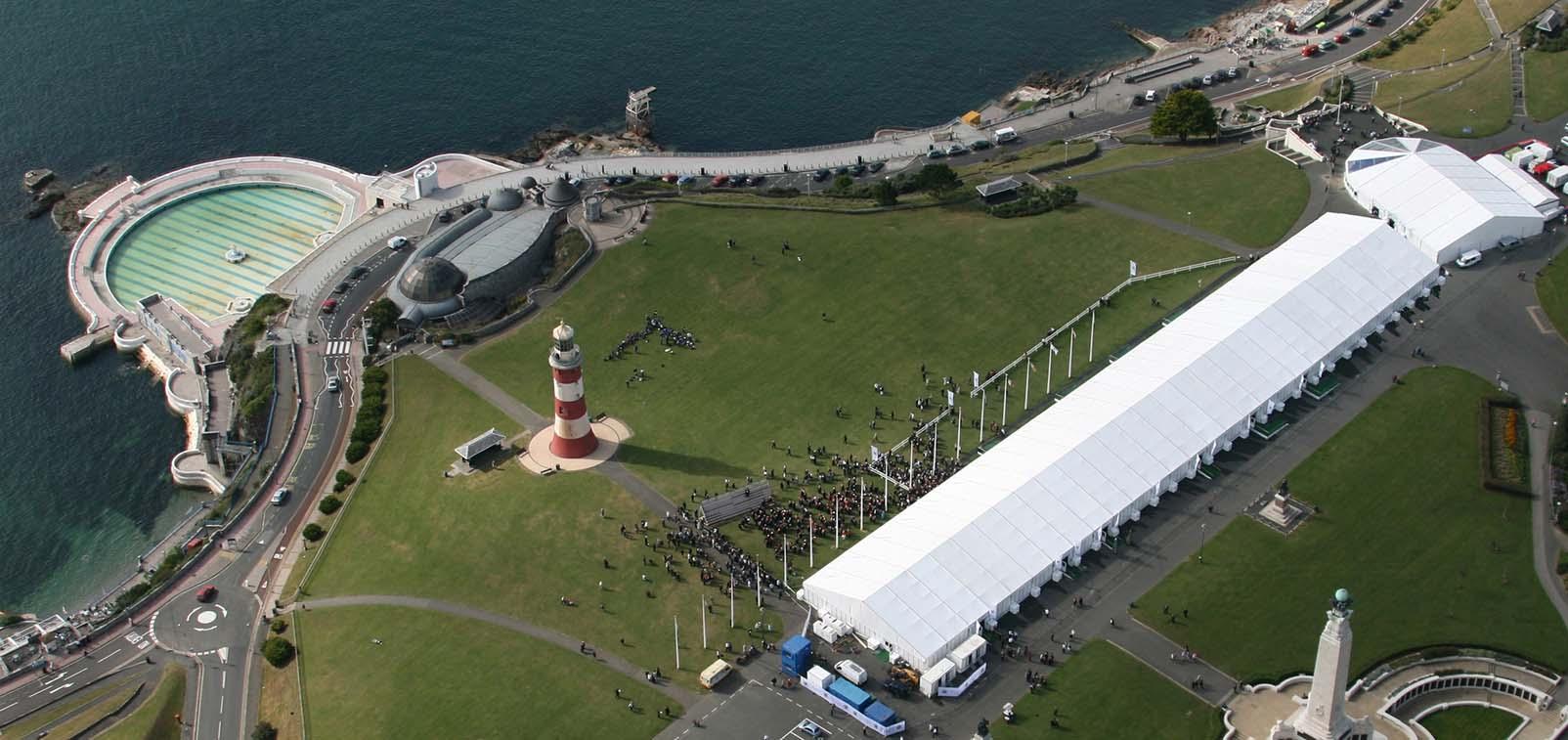 Plymouth Graduation Aerial Shot