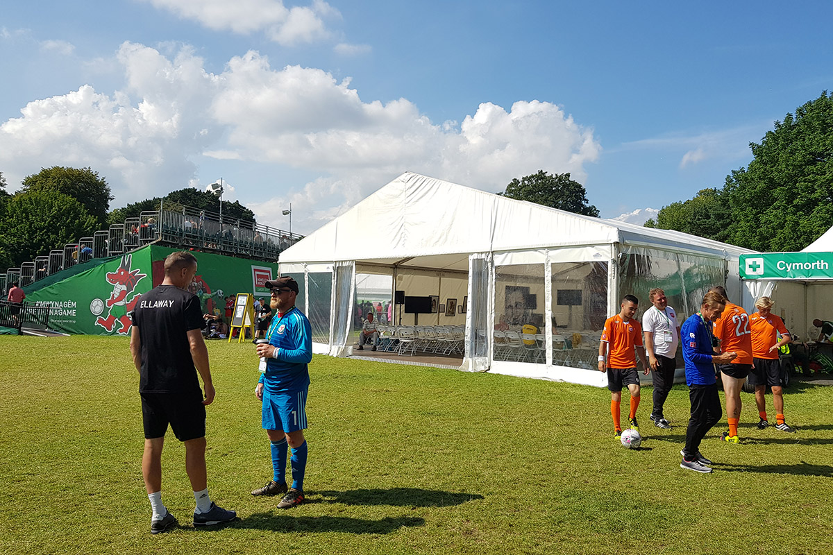 Bevan Tent at the Homeless World Cup Cardiff 2019